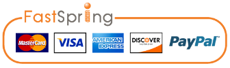 Icons showing payment methods accepted by FastSpring