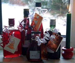 Bottles of Sloe Gin Blog Gardening Software