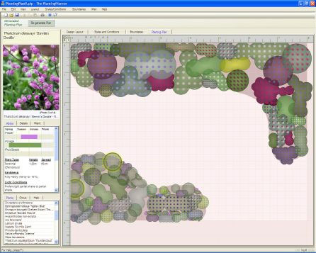 Planting Plan from Weatherstaff garden design software
