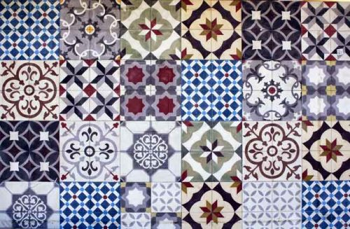 Mediterranean tiles - ideas for a Mediterranean garden from Weatherstaff garden design software blog