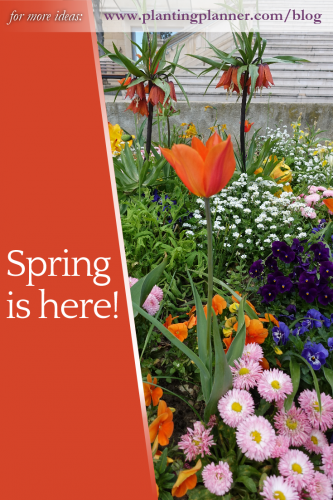 Spring is here! from the Weatherstaff PlantingPlanner