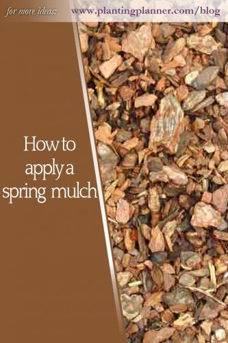 How to apply a spring mulch - from Weatherstaff garden design software