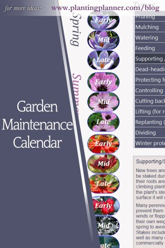 Garden Maintenance Calendar - from Weatherstaff garden design software