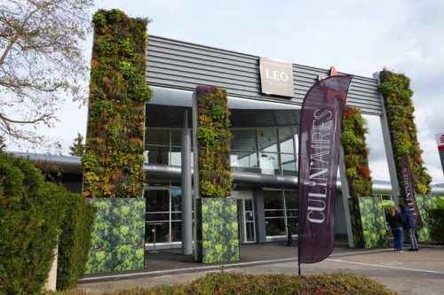 Living wall at the motorway services in France- from the Weatherstaff PlantingPlanner