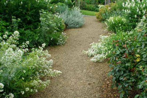 Garden borders creating symmetry