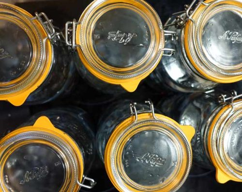 Kilner jar lids for making sloe gin