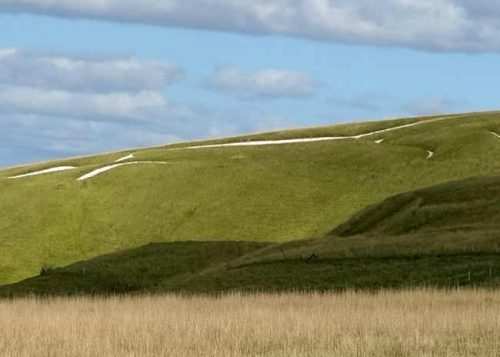 Chalk outline of the Uffington White Horse