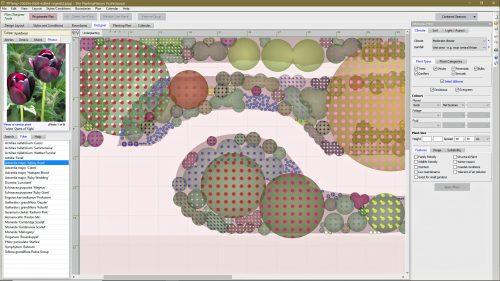 Screenshot showing design functions of the Weatherstaff PlantingPlanner