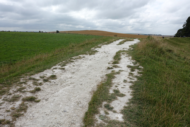 Path with chalky soil